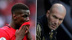 Paul Pogba Zinedine Zidane Man Utd Real Madrid