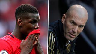 Paul Pogba Zinedine Zidane Man Utd Real Madrid