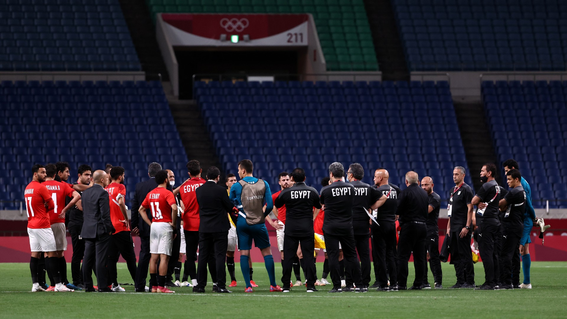 Olympics football: Egypt coach Gharib urges players not to worry after Brazil defeat