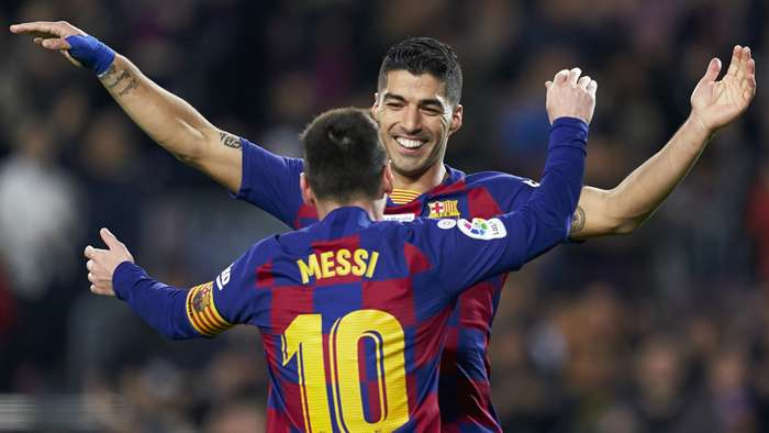 Luis Suarez Lionel Messi Barcelona 2020-21