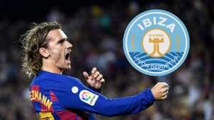 Antoine Griezmann Barcelona Ibiza GFX