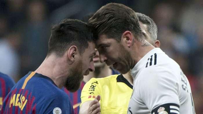 Lionel Messi Sergio Ramos Barcelona Real Madrid 2018-19