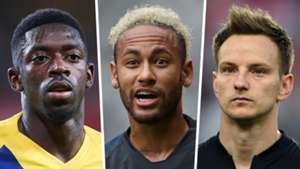 Ousmane Dembele, Neymar, Ivan Rakitic