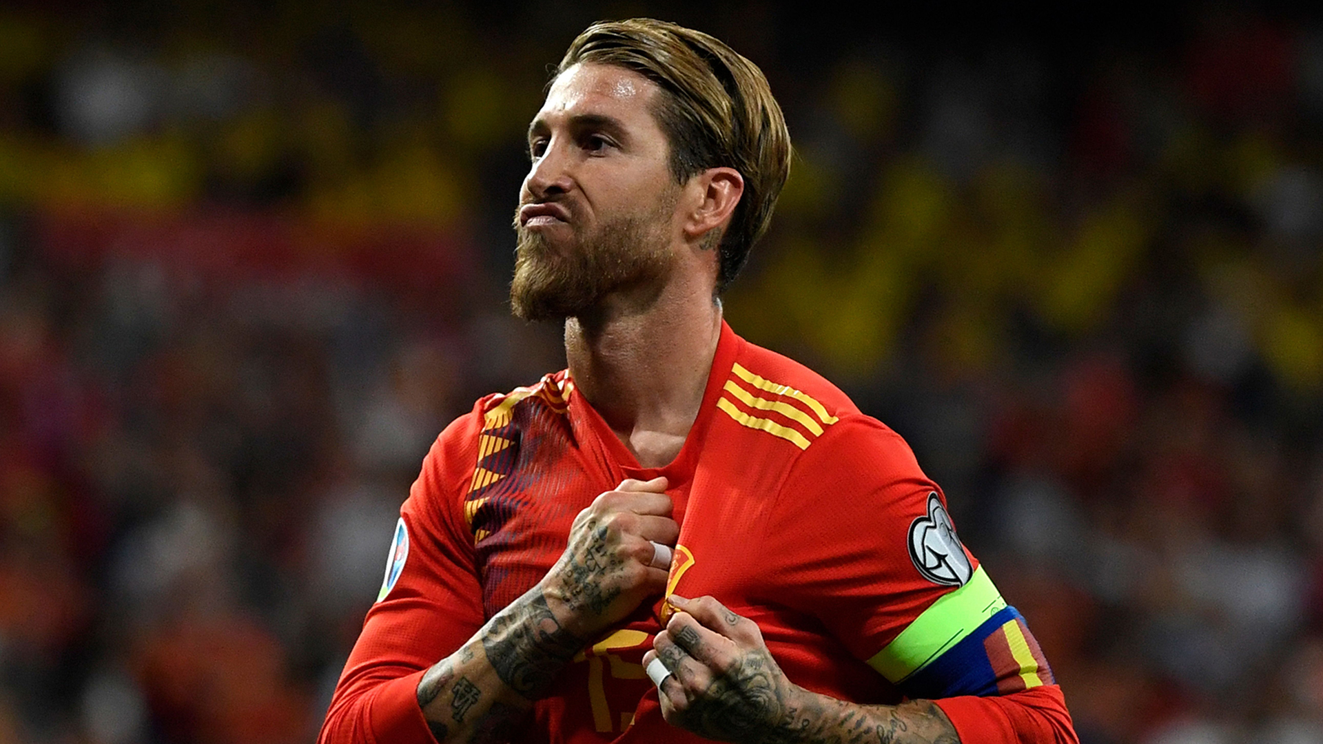 What Sergio Ramos said after becoming Spain's most capped player