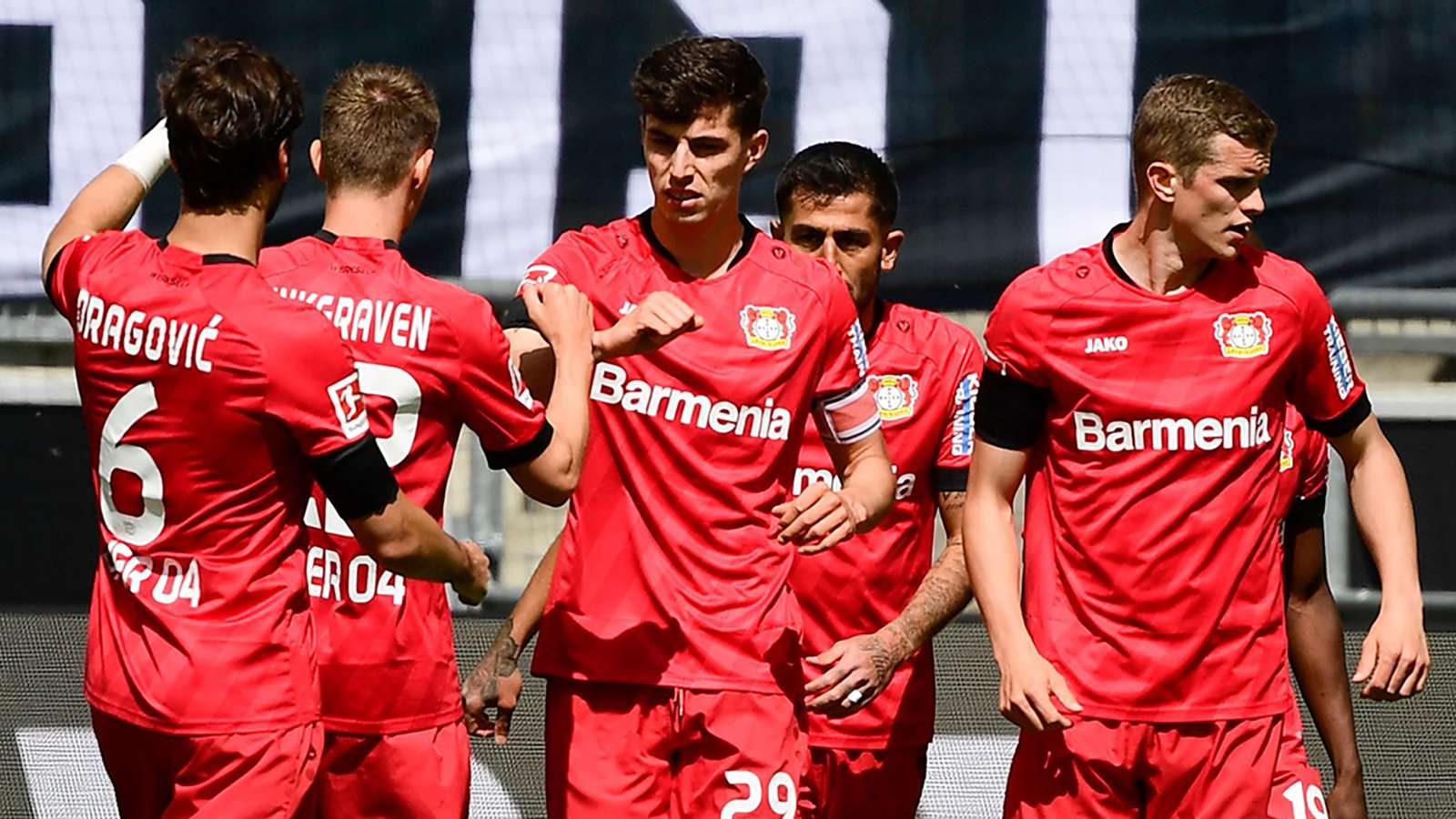 Kai Havertz Bayer Leverkusen celebrating 2019-20