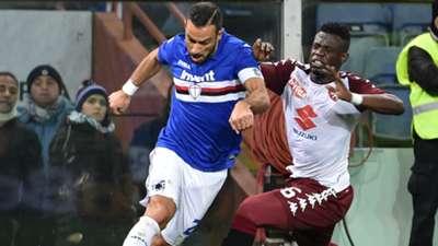 Afriyie Acquah Fabio Quagliarella Sampdoria Torino Serie A