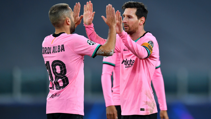 Jordi Alba Lionel Messi Barcelona 2020-2
