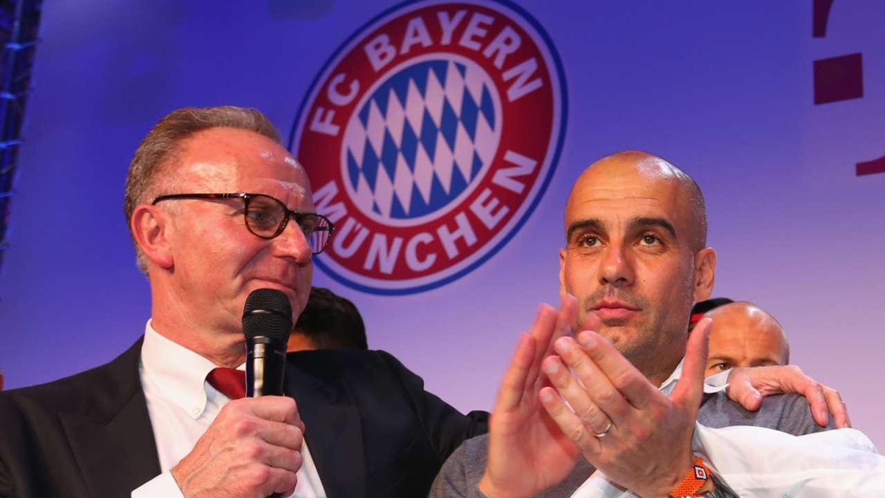 Pep Guardiola Karl-Heinz Rummenigge Bayern Munich