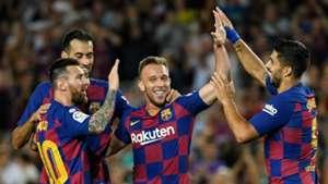 Barcelona v Villarreal Goal Celebration 09242019