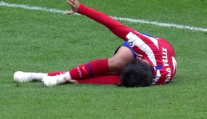Atlético, Joao Felix touché à la cheville