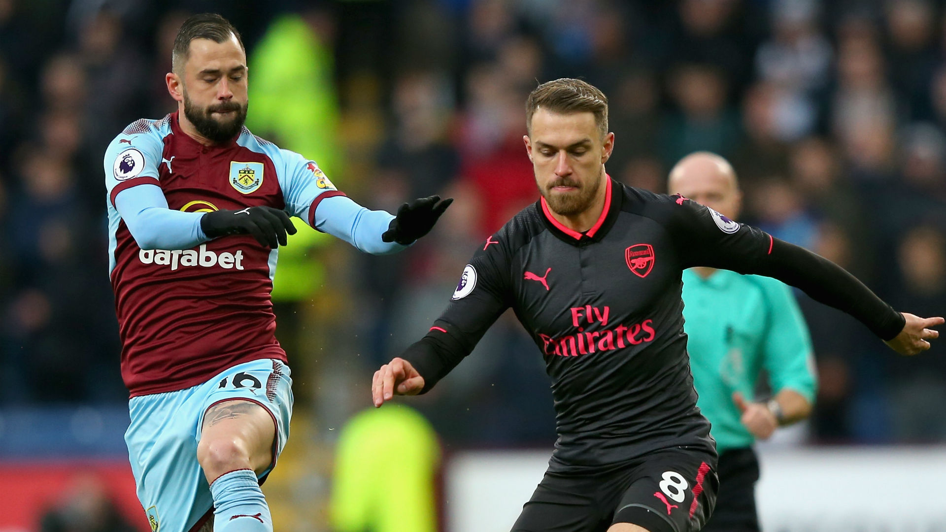 Steven Defour Burnley Aaron Ramsey Arsenal