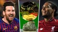Lionel Messi Virgil van Dijk Ballon d'Or