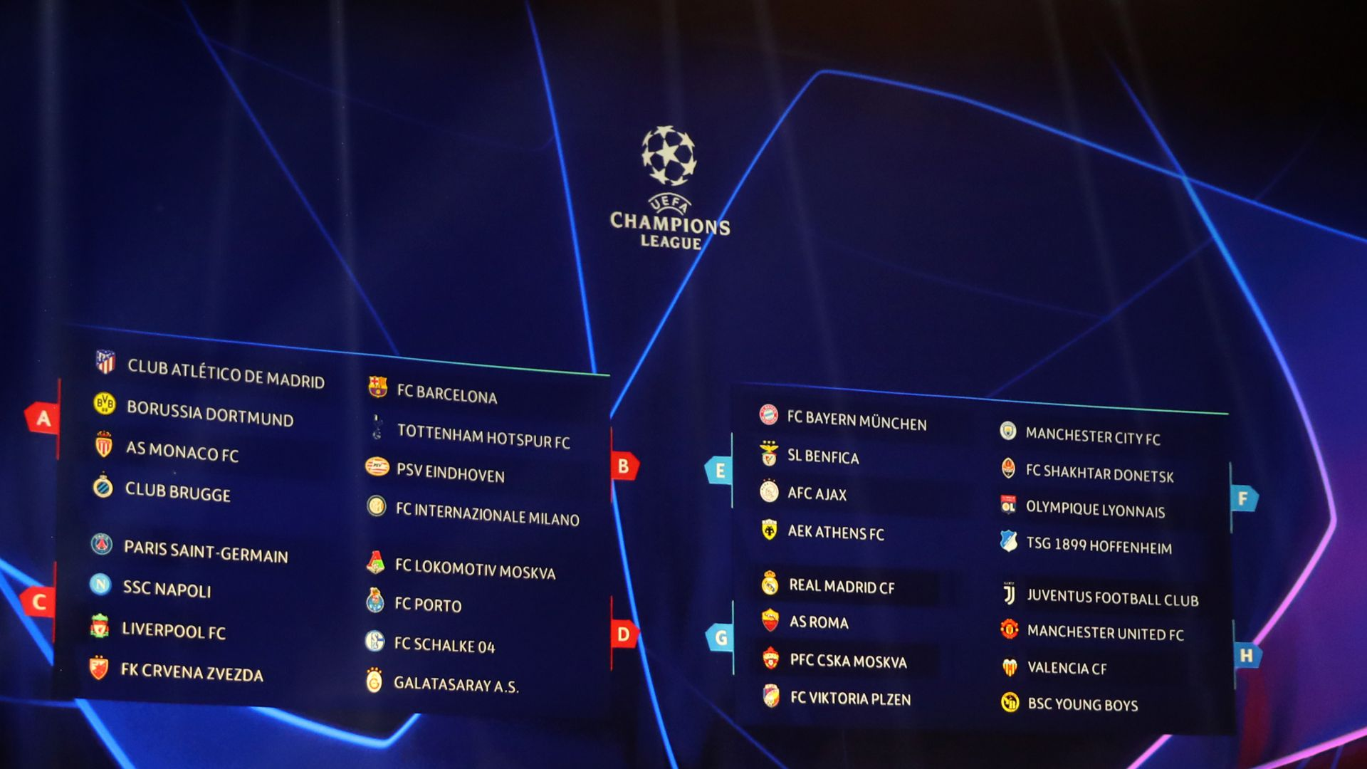 Gironi Champions League 2018 2019 Calendario Risultati E Classifiche Goal Com
