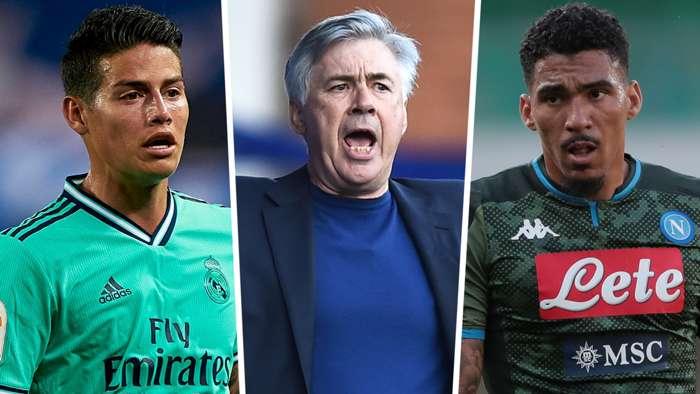 Carlo Ancelotti James Rodriguez Allan Everton GFX