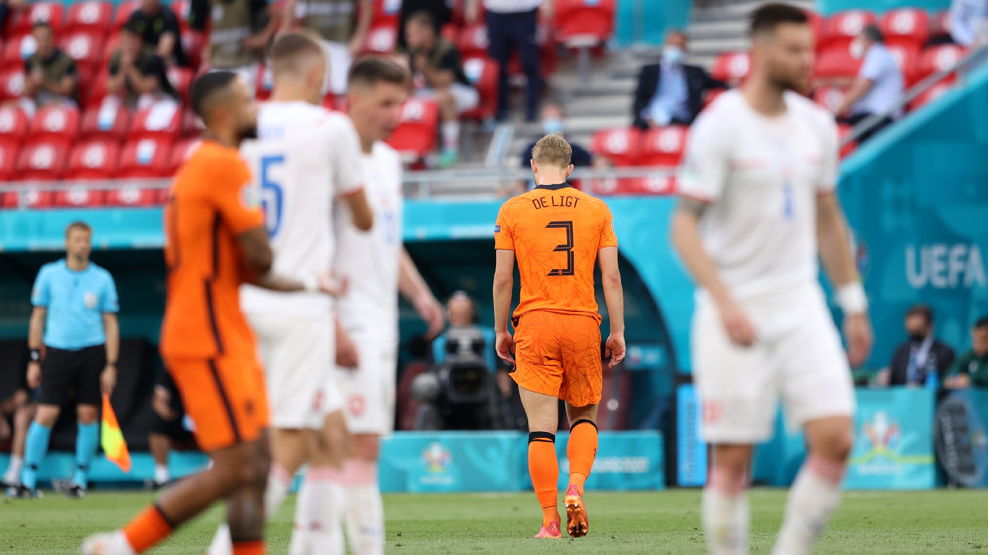 De Ligt creates unwanted Euros history as Netherlands crash out to Czechs