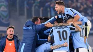 Lazio celebrating Inter Serie A