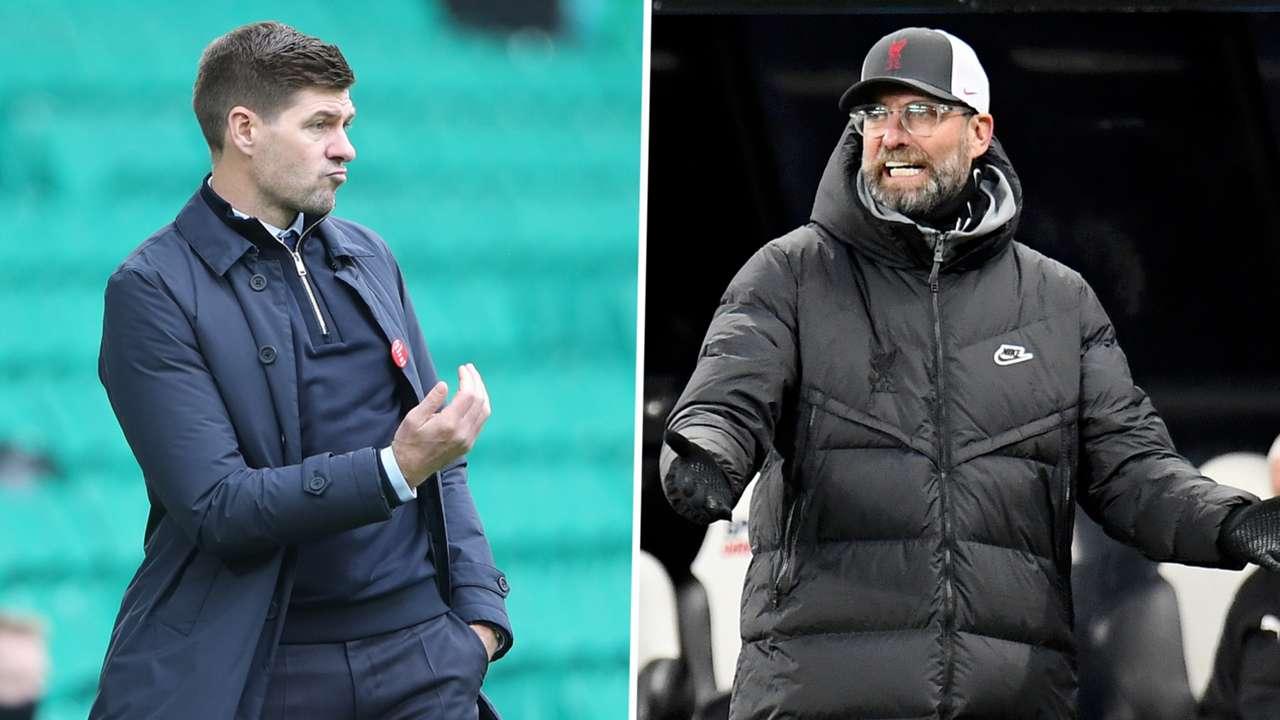 Steven Gerrard Jurgen Klopp Rangers Liverpool GFX