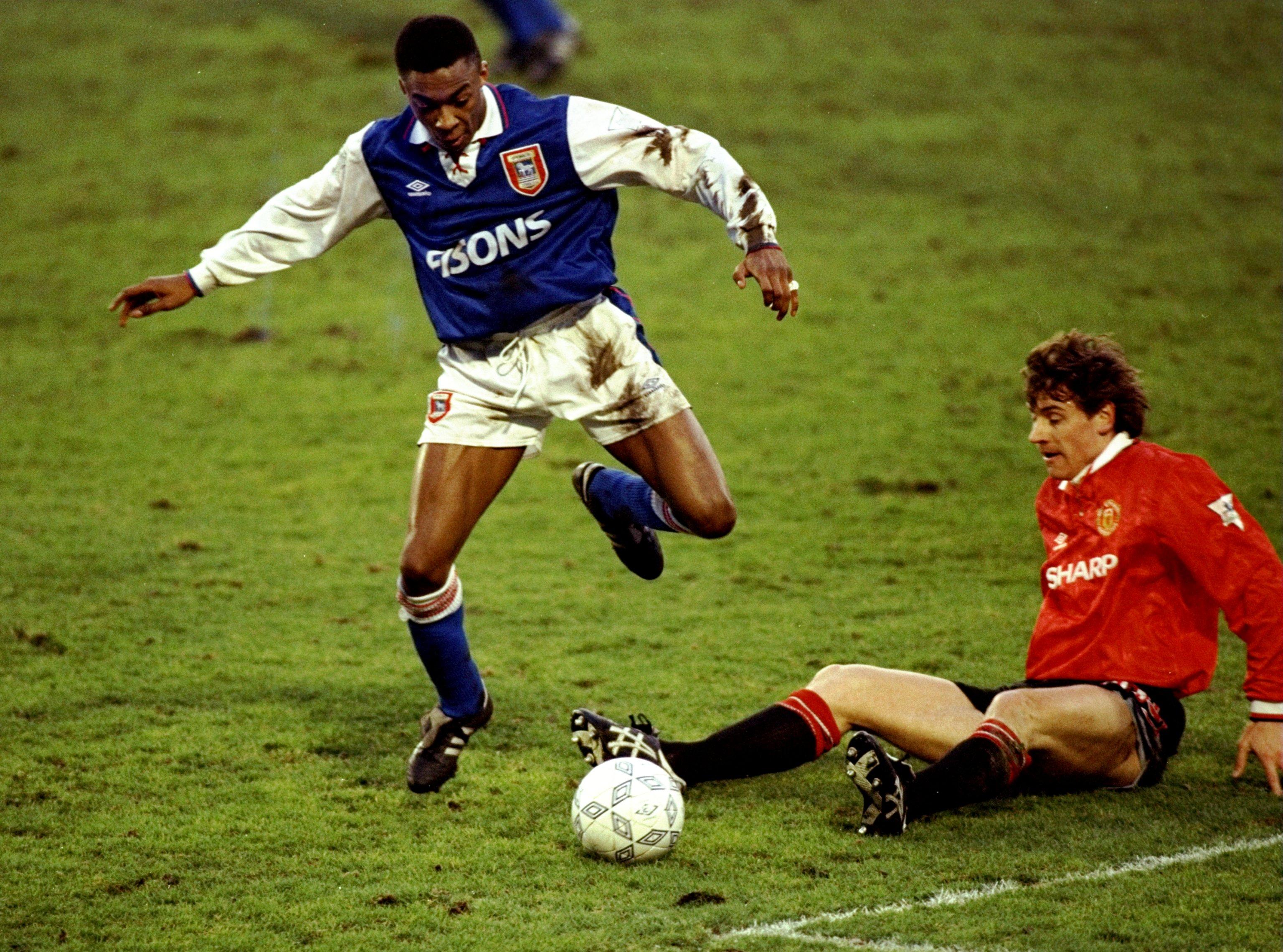 Chris Kiwomya Andrei Kanchelskis Ipswich Town Manchester United
