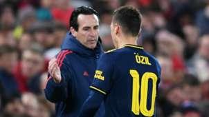 Mesut Ozil Unai Emery Arsenal 2019-20