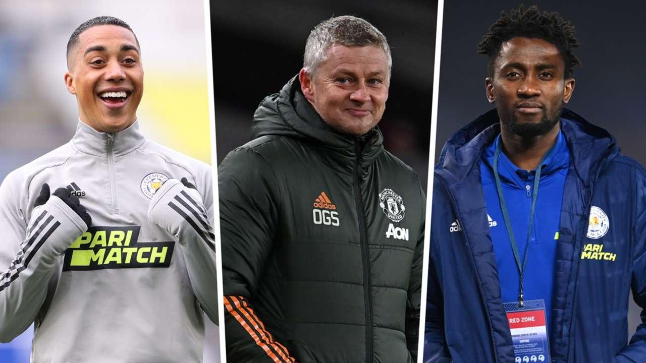 Youri Tielemans Ole Gunnar Solskjaer Wilfred Ndidi Leicester Man Utd GFX
