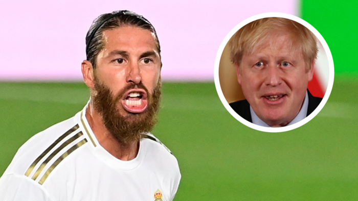 Sergio Ramos, Boris Johnson