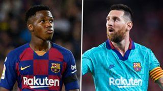 Ansu Fati Lionel Messi Barcelona