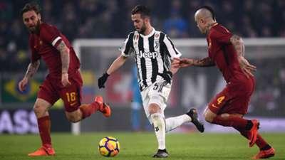 Pjanic Nainggolan - Juventus Roma
