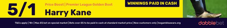 Kane Golden Boot Offer dabblebet footer