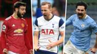 Bruno Fernandes Manchester United Harry Kane Tottenham Ilkay Gundogan Manchester City GFX