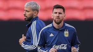 Sergio Aguero Lionel Messi Argentina