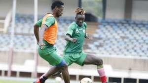 Masoud Juma and John Avire of Sofapaka and Harambee Stars.