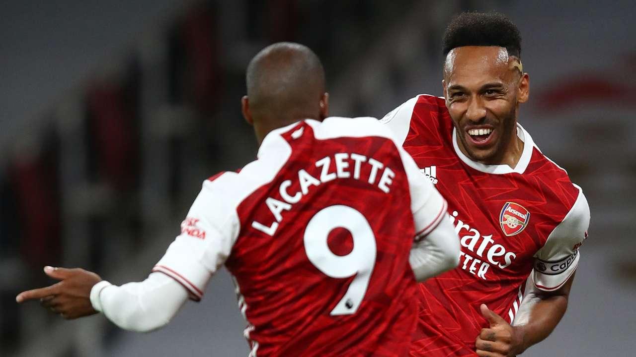 Pierre-Emerick Aubameyang Alexandre Lacazette Arsenal 2020