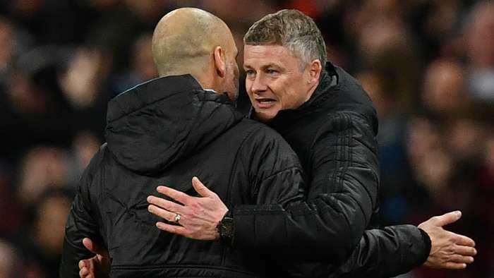Ole Gunnar Solskjaer Pep Guardiola Manchester City  Manchester United 2019-20
