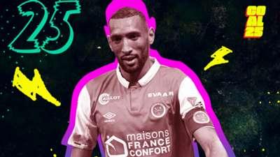 Goal 25 2020 25 Yunis Abdelhamid Stade de Reims Morocco