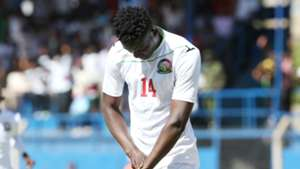 Kenya striker Michael Olunga celebrates