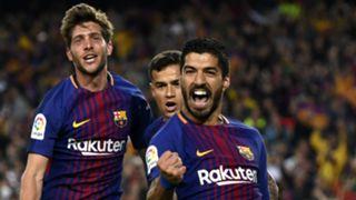 Luis Suarez Philippe Coutinho Sergi Roberto Barcelona