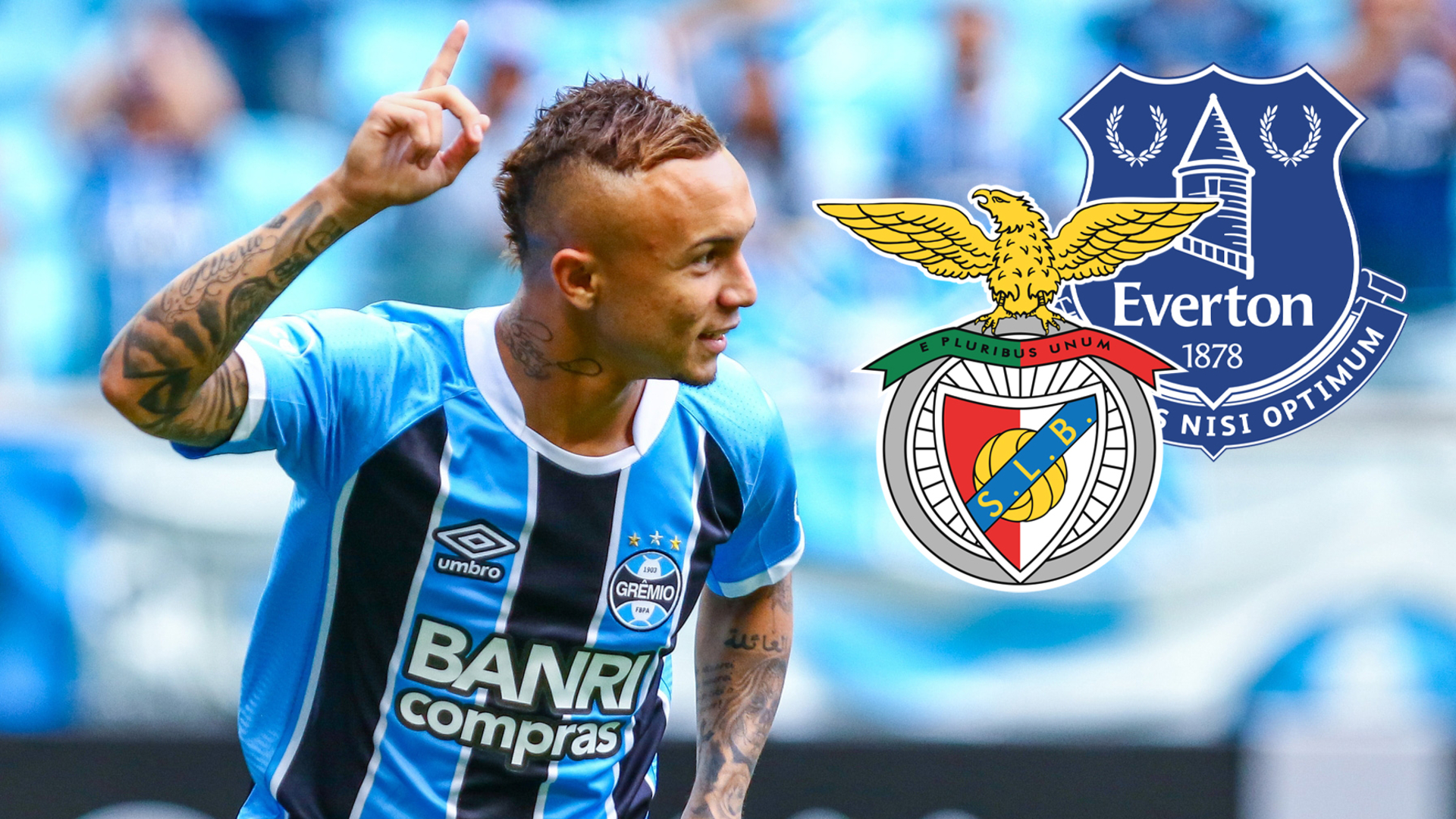 Everton to miss out on Everton as Benfica close in on €20m deal for Gremio's Brazil forward
