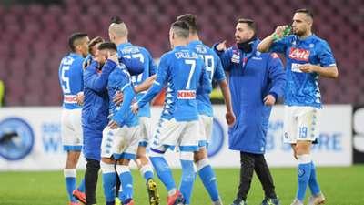 Napoli celebrating Sampdoria Serie A
