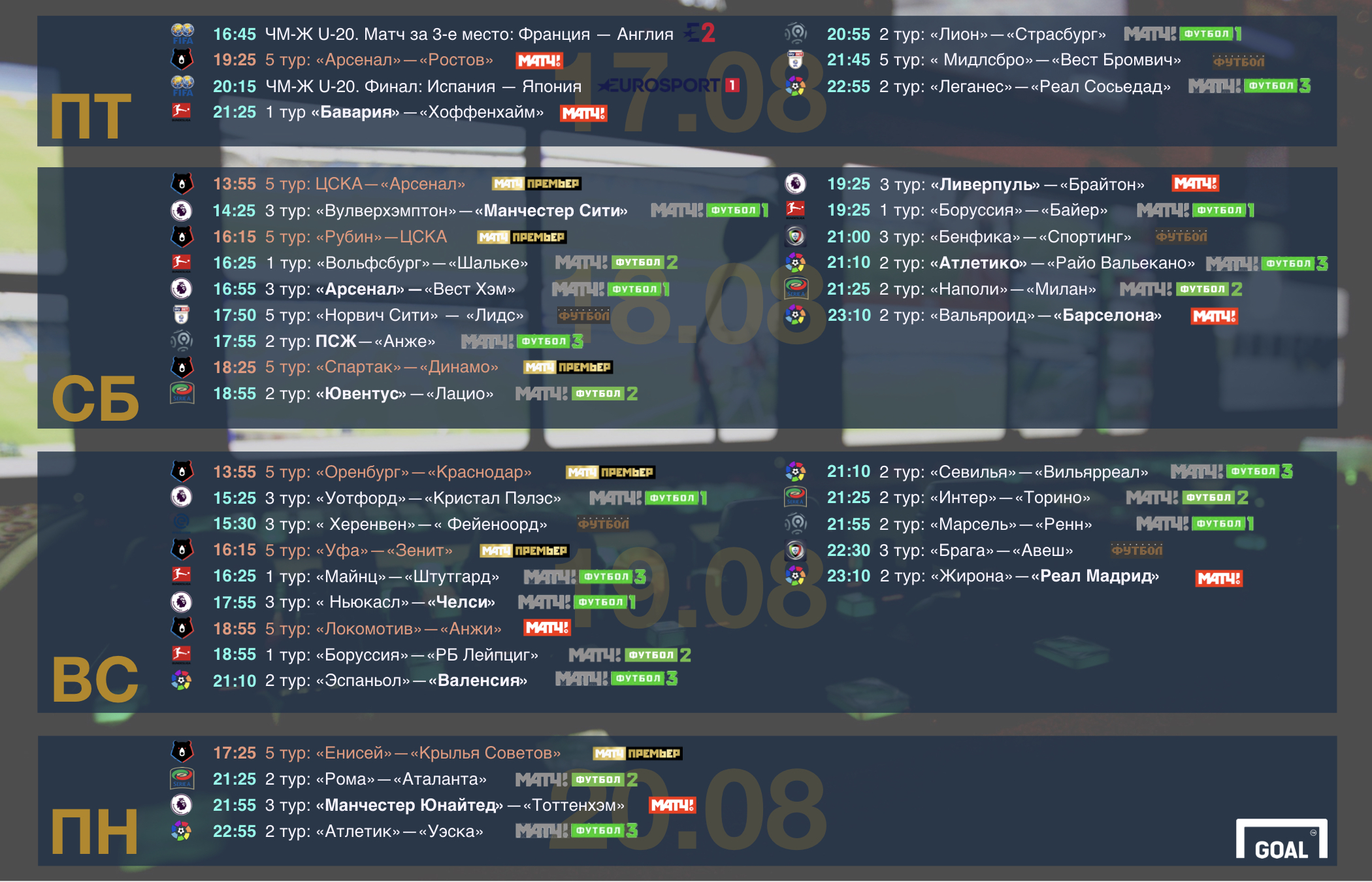 Телевидение москвы испанской лиги футбола