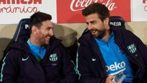 Lionel Messi Gerard Pique Barcelona 2018-19