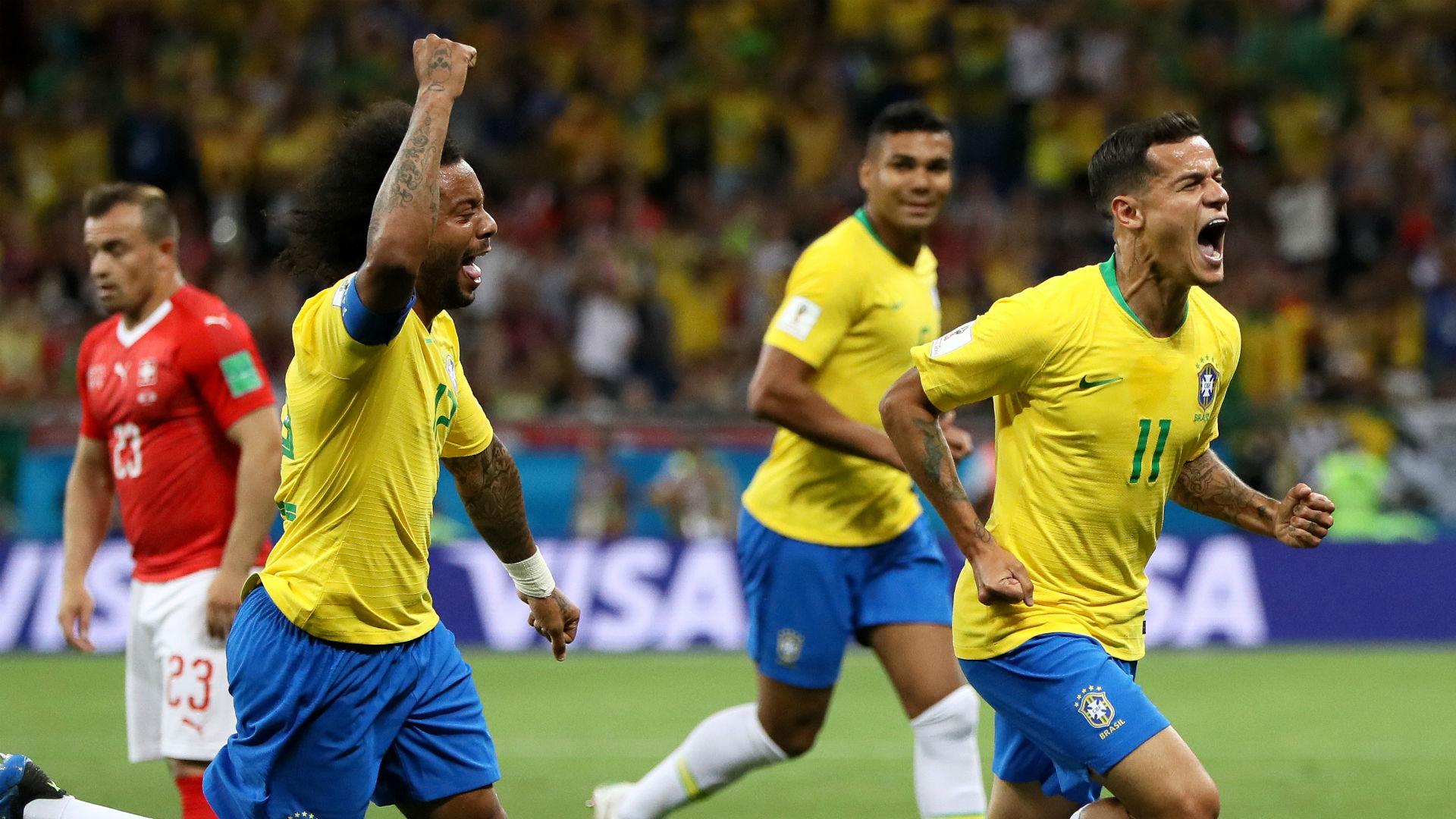 Philippe Coutinho Brazil Switzerland World Cup 2018