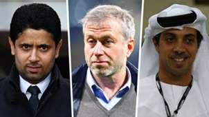 Nasser Al-Khelaifi PSG Roman Abramovic Chelsea Sheikh Mansour Manchester City