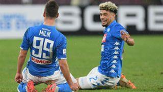 Arkadiusz Milik Kevin Malcuit Napoli Lazio Serie A