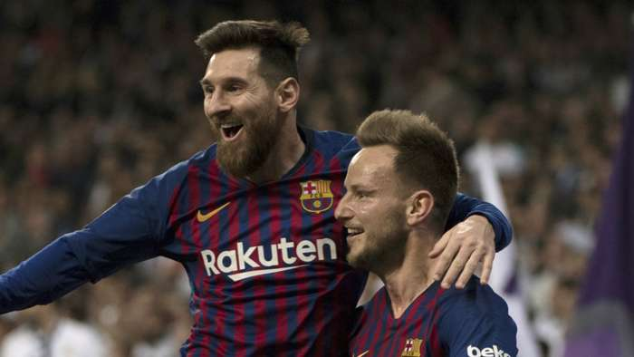 Lionel Messi Ivan Rakitic Barcelona 2018-19