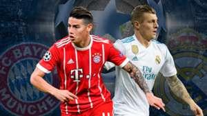 GFX James Rodriguez Toni Kroos Bayern Munchen Real Madrid