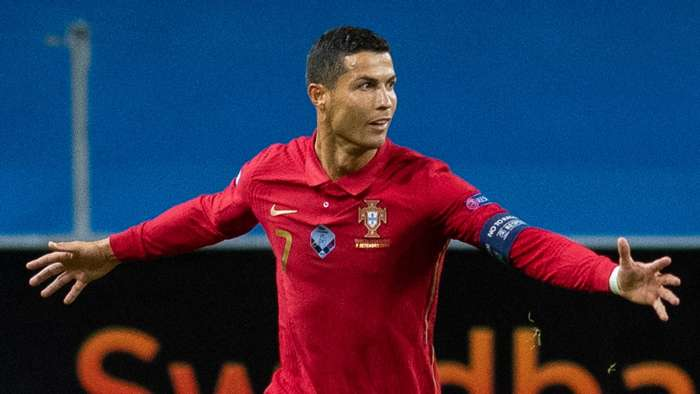 ROnaldo Portugal 2020 100th goal