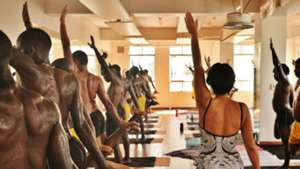 Wazito FC during their first Yoga session in January 2016