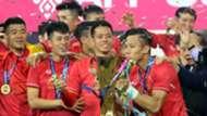 Que Ngoc Hai Nguyen Van Quyet Vietnam Malaysia AFF Cup 2018 final