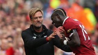 Sadio Mane Jurgen Klopp Liverpool Crystal Palace Premier League