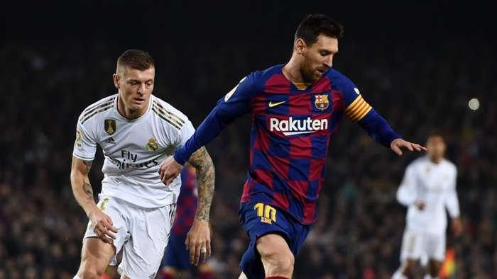 Lionel Messi Toni Kroos Barcelona Real Madrid El Clásico LaLiga 18122019